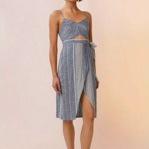 Express Cut Out Midi Linen Dress size 2